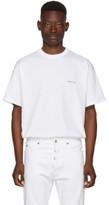 Balenciaga White Oversized Logo T-shirt