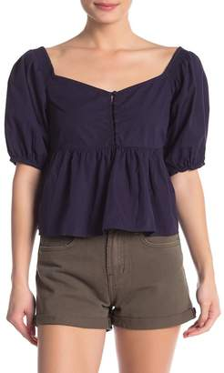 Free People Veronica Sweetheart Off-the-Shoulder Top