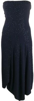 Donna Karan Asymmetric Strapless Dress