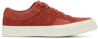 Converse Red Suede One Star Academy OX Sneakers