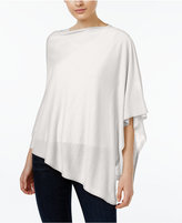 Eileen Fisher Silk-Organic Linen Asymmetrical Poncho