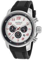 Redline Red Line 303C-02S-RDA Men's Topgear Chrono Black Silicone Silver-Tone Dial
