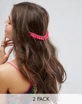 Asos Pack Of 2 Pom Pom Back Hair Grips