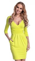 Glamour Empire. Women's Wrap V-Neck Jersey Pencil Dress with Pockets S-4XL. 236 (, 6)