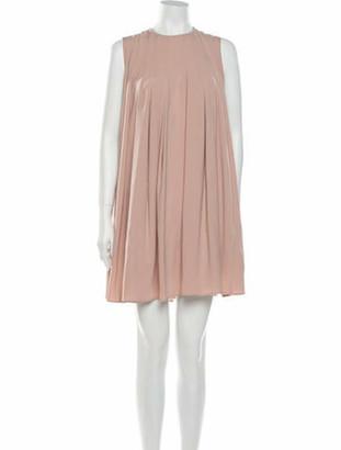 Co Crew Neck Mini Dress Pink