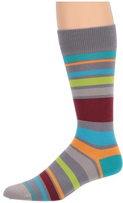 Paul Smith Andy Stripe Sock (Grey) Men's Crew Cut Socks Shoes