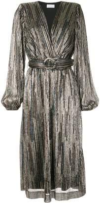 Rebecca Vallance pleated wrap dress