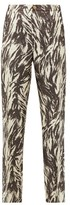 F.R.S For Restless Sleepers F.R.S – For Restless Sleepers Etere Vii Abstract-print Silk-blend Trousers - Womens - Brown Multi