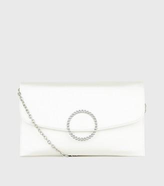 New Look Satin Diamante Ring Wedding Clutch