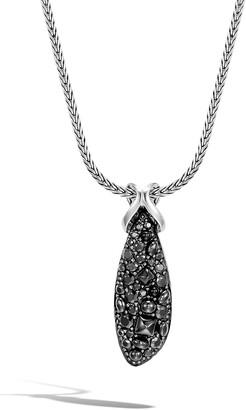 John Hardy Classic Chain Asli Black Sapphire Pendant Necklace