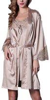 YAOTIN Women's Sexy Soft Robe and Nightgown Set Pajama-USM/tag L