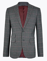 Marks and Spencer Checked Slim Fit Jacket