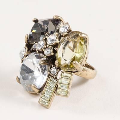 J.Crew Crystal bloom ring