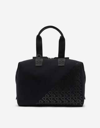 Dolce & Gabbana Millennials Logo Bag In Neoprene With Rubberized