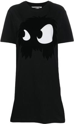 McQ Swallow Monster Eyes T-shirt dress