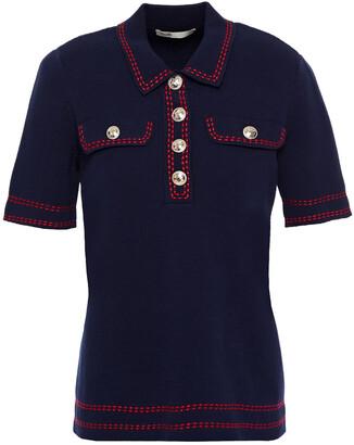 Maje Embroidered Cotton Polo Shirt