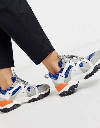 Selected chunky trainer in colourblock
