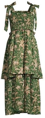 Rebecca Taylor Talia Tiered Maxi Dress