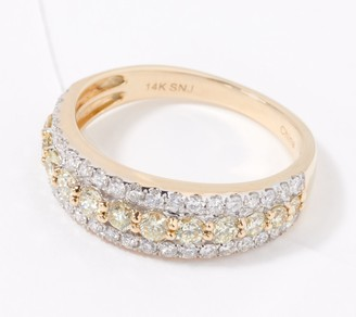 Affinity Diamond Jewelry Affinity 14K Gold Natural Pink or Yellow Diamond Ring, 1.00cttw