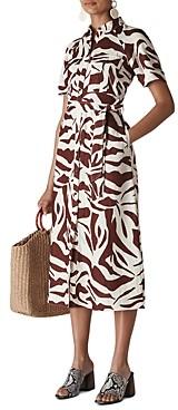 Whistles Graphic Zebra Printed Shirt Dress