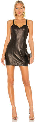 Fleur Du Mal Leather Mini Slip Dress