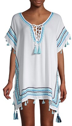 Surf.Gypsy Lace-Up Poncho Coverup