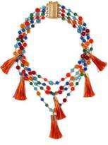 Rosantica Tasseled Gold-Tone Beaded Necklace