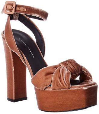Giuseppe Zanotti Velvet Platform Sandal