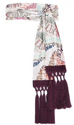 Zimmermann Silk Skinny Tassel Scarf