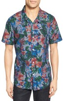 Nordstrom Men's Trim Fit Floral Print Camp Shirt
