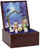 Precious Moments Heirloom Nativity Light-Up Musical Box 7-piece Set