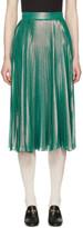 Gucci Green Lurex Plissé Skirt
