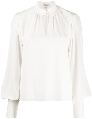 Temperley London Silk Balloon Sleeve Blouse
