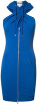 Moschino twist front hoodie dress - women - Cotton/Other fibres - 38