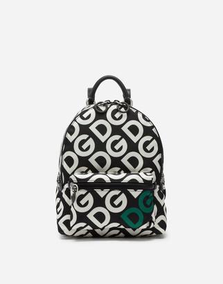 Dolce & Gabbana Nylon Vulcano Backpack With Mania Print