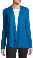 Eileen Fisher Fine-Gauge Organic Linen Cardigan