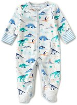 Starting Out Baby Boys Preemie-6 Months Dinosaur-Print Footed Coveralls