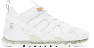 Burberry White Nubuck Union Sneakers