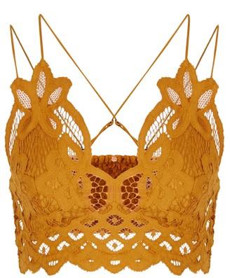 Free People Adella dusty pink lace bra top