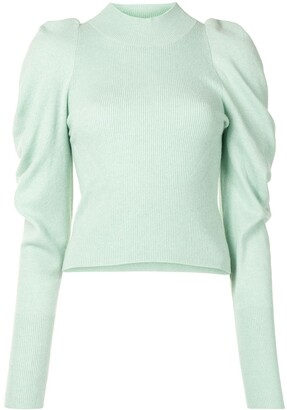 Jonathan Simkhai Drea draped-sleeve ribbed jumper