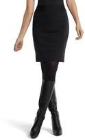 White House Black Market Black Ponte Knit Banded Pencil Skirt