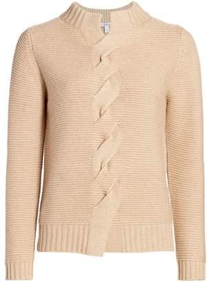 Max Mara Albania Braided Wool & Cashmere Knit Sweater