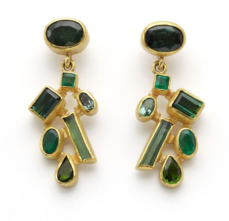 Gump's Petra Class Tourmaline & Emerald Earrings