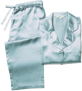 Kumi Kookoon Silk Ashley Pajama Set, Aqua