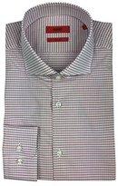 HUGO BOSS C-Meli Sharp Fit Gingham Spread Collar Dress Shirt (, 16 34/35)