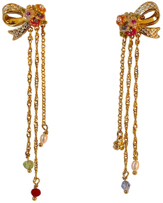 Les Nereides Gold gold and steel Earrings