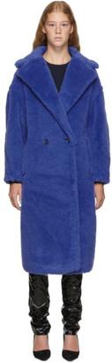 Max Mara Blue Teddy Bear Coat