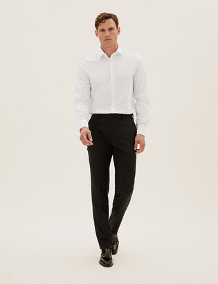 Marks and Spencer Tailored Fit Wool Trousers