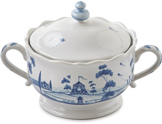 Juliska Country Estate Delft Blue Lidded Sugar/Jam Bowl Main House