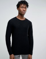 Only & Sons Jumper With Curved Hem Fine Gauge